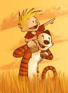 Calvin and Hobbes by PadawanLinea