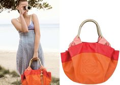 Loewe Tangerine And Shimmer Gold Nappa.Aire Handbag