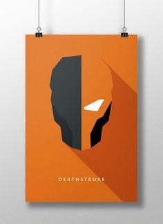 Deathstroke by Moritz Adam Schmitt Dc Deathstroke, Deathstroke The Terminator, Comic Book Characters, Comic Books Art, Comic Art, Minimalist Poster, Minimalist Art, Teen Titans, Hero Squad