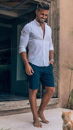30 trendy summer men's fashion ideas to try out Street Art Trend 2019 is part of Mens summer fashion beach - Summer Outfits Men, Summer Wear, Men's Summer Clothes, Men Summer Fashion, Fashion For Man, Men's Casual Fashion, Summer Sport, Trendy Mens Fashion, Beach Outfits