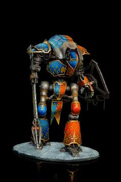 Imperial knight Imperial Knight, Warhammer 40000, Blue Orange, Color Schemes, Medieval, Knights, Gw, Painting, Sisters