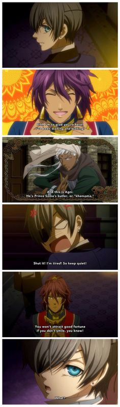kuroshitsuji/black butler #anime ~ forreal 2 of my favorite characters were prince soma & agni. loved their relationship