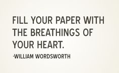 A quote from William Wordsworth loved by RN author Anita Higman