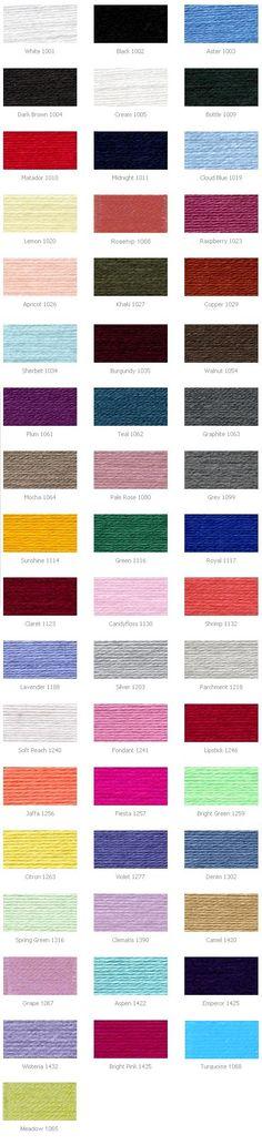 Stylecraft Special DK colour chart