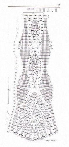 Crochet Skirt Pattern, Crochet Skirts, Crochet Tunic, Crochet Diagram, Crochet Chart, Crochet Motif, Crochet Doilies, Crochet Clothes, Crochet Lace