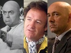 """Lyle Talbot em """"Atom man vs. Superman"""", Gene Hackman em """"Superman"""",  e Kevin Spacey em """"Superman – o retorno"""" (Foto: Divulgação)"""