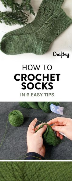You Can Crochet Socks With Confidence Thanks to These Helpful Tips Crocheting socks is not always easy sailing, but it is a very rewarding way to expand to your crochet skills. Learn how to crochet socks here Crochet Socks Pattern, Easy Crochet Patterns, Crochet Stitches, Knitting Patterns, Knit Crochet, Crochet Ideas, How To Crochet Socks, Crotchet Socks, Chrochet