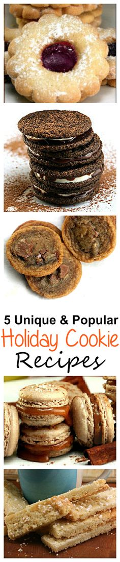 Actually SIX Unique and Popular Cookie Recipes! Not one of these ever receives less than raves! A Perfect Holiday Cookie Assortment!