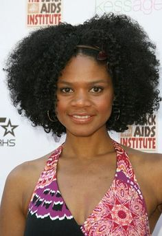 Kimberly Elise Feelin the part in the middle that still allows you to see all of her beautiful face