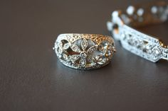 my absolute favorite without the stones maybe a stone or two Filagree Ring and Bracelet by VintageFormals on Etsy