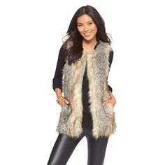 Ahh a good faux fur vest, the pursuit is real...                  {target fur vest(in-store)- similar here  // jbrand jeans // zara top -...