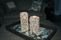DIY... River Stone Pillar Candles