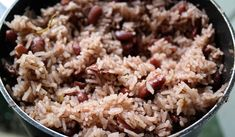 Delicious Authentic Jamaican Rice and Peas Recipe made with coconut milk, allspice, scallions and more! I've tried many recipes but this one is the best hands down! Authentic Jamaican Rice And Peas Recipe, Rice And Peas Jamaican, Jamaican Dishes, Jamaican Recipes, Asian Recipes, Jamaican Drinks, Jamaican Cuisine, Pea Recipes, Vegetarian Recipes
