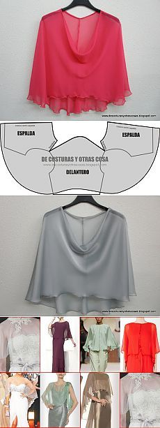 Espalda When you wanna hide your beautiful boobs but with a classy way/шьем блузу / Cut Up Shirts, Tie Dye Shirts, T Shirt Yarn, T Shirt Diy, Diy Clothing, Sewing Clothes, Clothing Patterns, Dress Patterns, Sewing Patterns