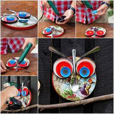 Recycled lid owl