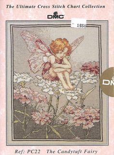 DMC The Ultimate Cross Stitch Chart Collection, The Candytuft Fairy, Cecily Mary Barker, 1996 by KathleenNCo on Etsy