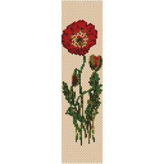 Vintage Flowers 9 Peyote Bead Pattern, Bracelet Cuff, Bookmark, Seed Beading Pattern Miyuki Delica Size 11 Beads - PDF Instant Download by SmartArtsSupply on Etsy