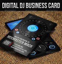 Flat dj business card pinterest dj business cards professional flat dj business card pinterest dj business cards professional dj and business cards colourmoves