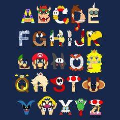 mario alphabet.