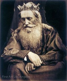 """Julia Margaret Cameron, """"Study of King David"""", 1866 (Depicts Sir Henry Taylor. Scanned from Colin Ford's Julia Margaret Cameron: Century Photographer of Genius)"""