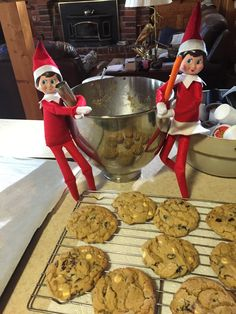 12-3-15 Dexter Jingle and Dolly Jangle baking doing some baking this afternoon