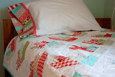 Home is Where My Story Begins: Vintage Modern Floral Quilt