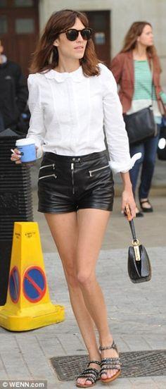 Alexa Chung wearing Dolce & Gabbana Agata Bag.