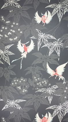 Osborne & Little: W5603-07An exotically coloured hummingbird darting between foliage, named after the tropical bird garden outside Kells in County Meath.  PRODUCT TYPE Wallpaper; washable.