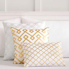 Decorator Foil Pillow Covers | PBteen