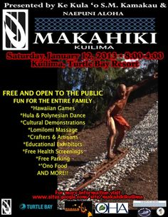 Kahuku, HI Step back in time and honor the Makahiki, a traditional Hawaiian festival honoring the best in strength, competition and sport.    Join the celebration for the second Makahiki Kuilima, a day filled wit...
