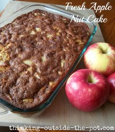 QUICK APPLE WALNUT SNACK CAKE