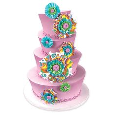 Pinwheel cake by Charra Jarosz created with Lucks' decorating products