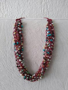Beaded Necklace, Jewelry, Necklaces, Beaded Collar, Jewlery, Pearl Necklace, Jewerly, Schmuck, Beaded Necklaces
