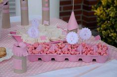 Princess birthday party palomitas rosas