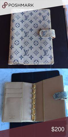 Louis Vuitton Agenda Rare Louis Vuitton Agenda.  Date Code: CA 0070 From Spain.  With receipt.  Denim monogram.  Great condition. Louis Vuitton Accessories