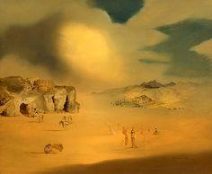 Paisaje Pagano Medio', obra de Salvador Dalí na qual aparece a imagem de Sigmund Freud