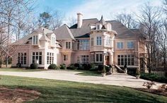 Chateau House Plan with 4591 Square Feet and 5 Bedrooms from Dream Home Source | House Plan Code DHSW32945