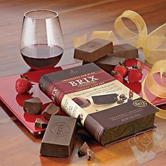 #wineenthusiast   Brix Chocolate-for-Wine Gift Set at Wine Enthusiast - $24.95