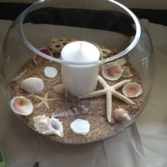 Great Beach Theme Center Piece and EASY to make