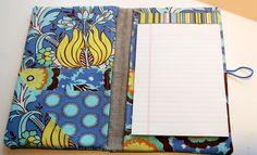 fabric portfolio and notepad holder tutorial