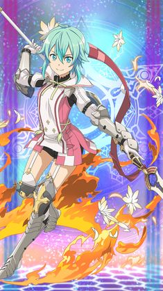 Online Anime, Online Art, Cute Anime Character, Character Art, Sinon Ggo, Vocaloid, Sword Art Online Wallpaper, Accel World, Sword Art Online Kirito