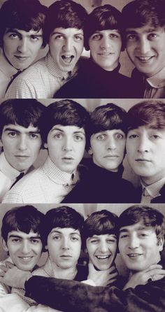 The happy & carefree Beatles