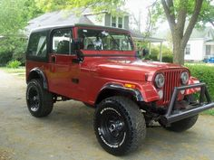 We bought this 1986 Jeep CJ7 with 40 miles on it.  It was originally black with a black hard top.  We pulled it out of the garage a little over a year ago and completely restored it and it now is GM Sunset Orange with the black hard top.  It's time to hit the road again...Jeepin.  Yee haw!