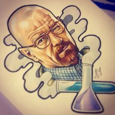breaking bad tattoo scetch