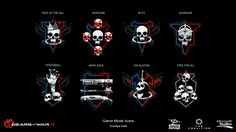 ArtStation - Gears of War 4 Game mode Icons , Dorottya Kollo