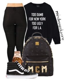 """"""" She know how to stir it up """" by mindlesspolyvore ❤ liked on Polyvore featuring Casetify, MCM and Vans"""