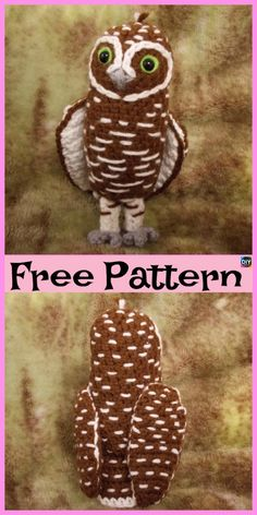 Everyone loves owls, and they are one of our favorite animals! So why not learn how to make a adorable Crochet Amigurumi Owl for your child ? Crochet Parrot, Crochet Birds, Crochet Unicorn, Cute Crochet, Crochet Crafts, Crochet Projects, Kids Crochet, Crochet Giraffe Pattern, Owl Crochet Patterns