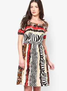 Buy I Know Multicoloured Printed Skater Dress Online - 3343675 - Jabong Best Online Fashion Stores, Online Shopping For Women, Buy Shoes, Buy Dress, Shoe Brands, Skater Dress, Vogue, Fashion Outfits, Prints