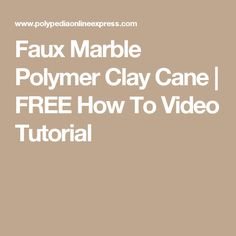Faux Marble Polymer Clay Cane | FREE How To Video Tutorial
