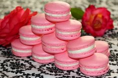 Welcome to Eatlover Kitchen: ROSE WATER MACARONS WITH LYCHEE BUTTER CREAM FILLING